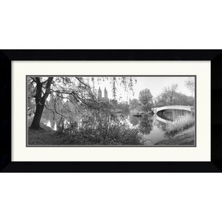 Bruce Davidson 'The Lake and Bow Bridge, Central Park, 1992' Framed Art Print
