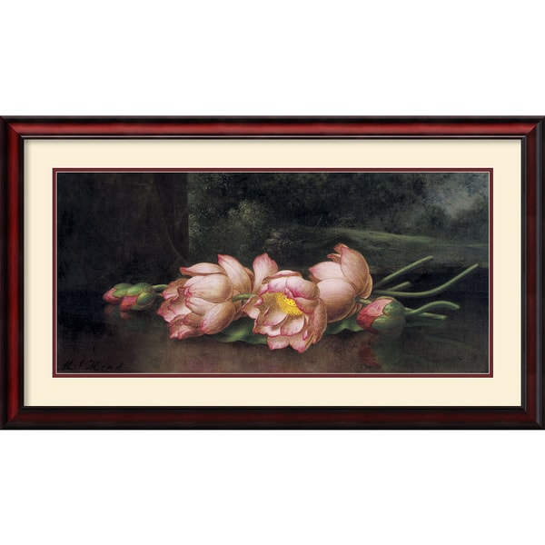Martin Johnson Heade 'Lotus Flowers' Framed Art Print