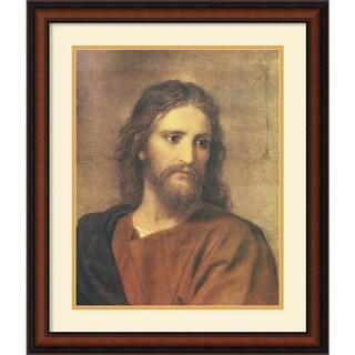Heinrich Hofmann 'Christ at Thirty-three' Framed Art Print