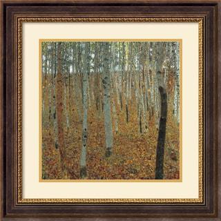 Gustav Klimt 'Forest of Beech Trees' Framed Art Print