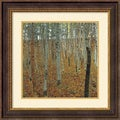 Gustav Klimt 'Forest of Beech Trees' Framed Art Print