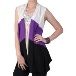 Tressa Designs Women's Open Front Sleeveless Flyaway Cardigan