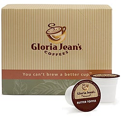 Gloria Jean's Coffees, Butter Toffee, K-Cup for Keurig Brewers (48 count)