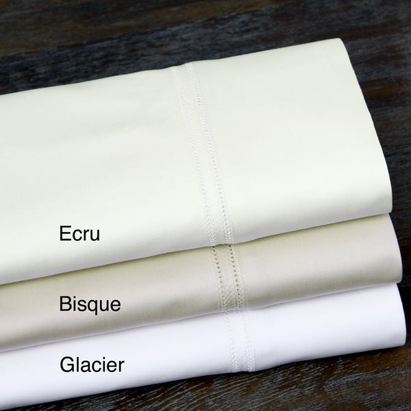 100-percent Egyptian Cotton 1000 Thread Count Double Hemstitch Solid Sheet Set