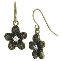 Journee Collection Gold Composite Crystal Flower Jewelry Set