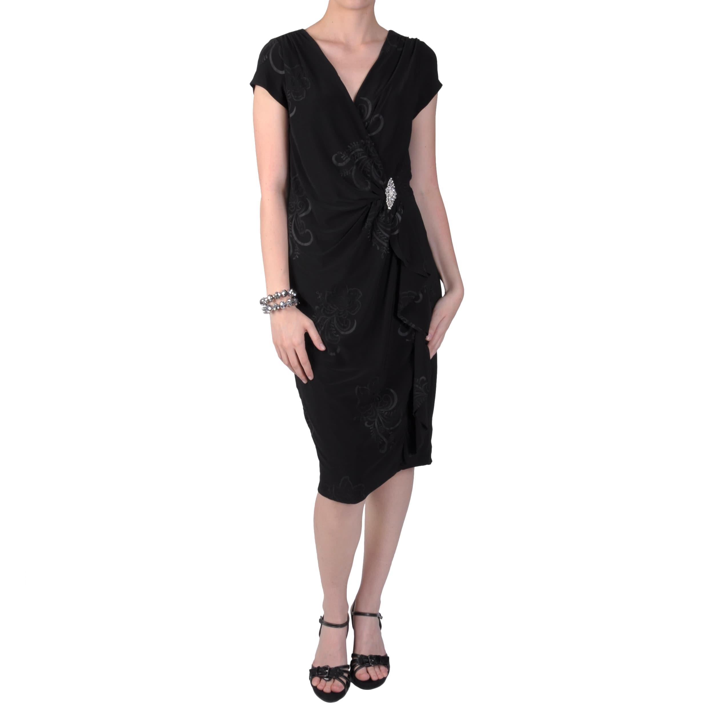 Tressa Designs Women's Ruffled V-neck Short-sleeve Dress