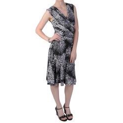 Tressa Designs Women's V-Neck Sleeveless Polyester/Spandex Gathered Dress