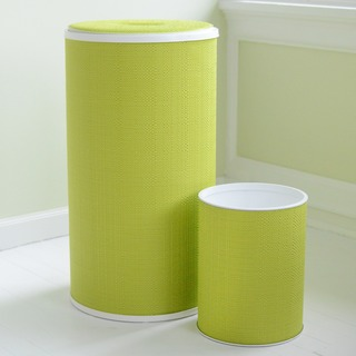 1530 LaMont Home Lime Brights Round Hamper and Wastebasket Set