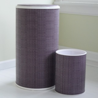 1530 LaMont Home Grape Brights Round Hamper and Wastebasket Set
