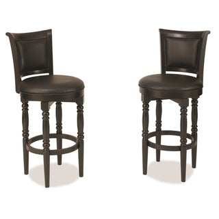 Home Styles St. Croix Black Swivel Bar Stool