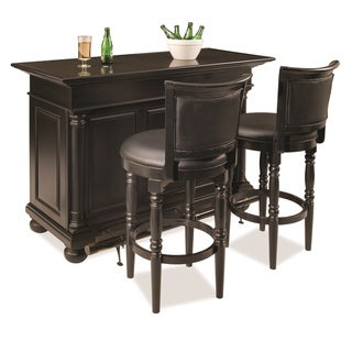 St. Croix Black-finished Bar and Two Stools