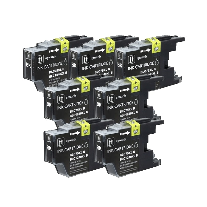 Brother LC75 Compatible Black Ink Cartrdige (Pack of 7)