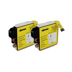 Brother LC65 Compatible Yellow Ink Cartridge (Pack of 2)