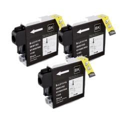 Brother LC65 Compatible Black Ink Cartridge (Pack of 3)