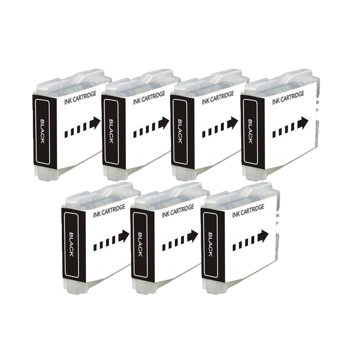 Brother LC51 Compatible Black Ink Cartridge (Pack of 7)