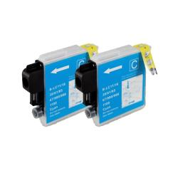 Brother LC61 Compatible Cyan Ink Cartridge (Pack of 2)