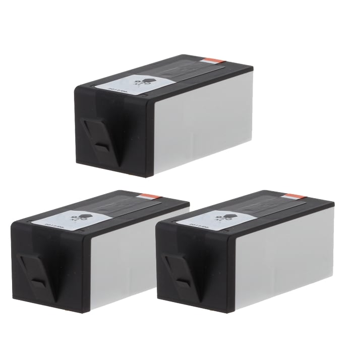 Hewlett Packard 920XL Remanufacture Black Ink Cartridge (Pack of 3) (Refurbished)