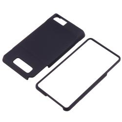 Black Rubber Coated Case for Motorola Droid Xtreme MB810