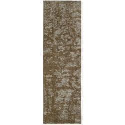 Nourison Calvin Klein Home Metropolitan Brown Wool Rug (2'3