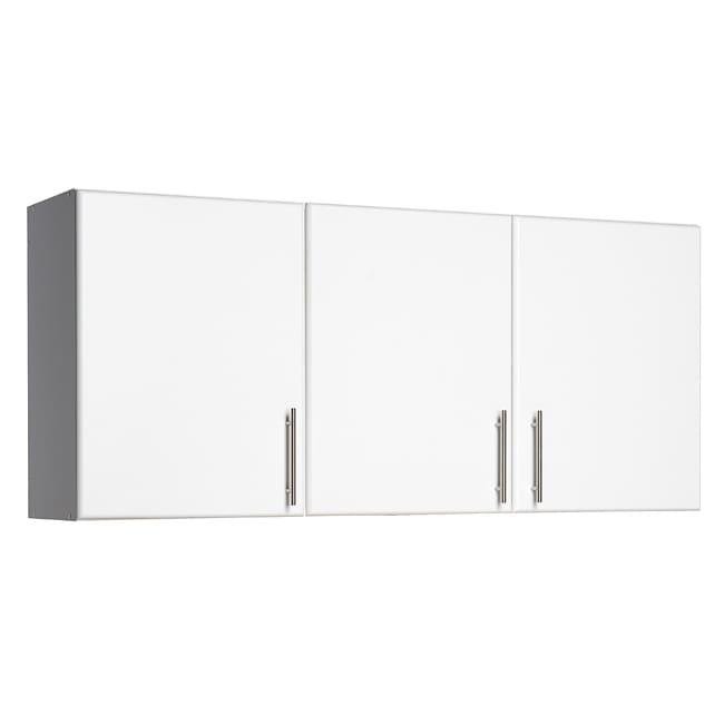 White Finish 3 Door Garage LaundryRoom Kitchen Storage Wall Cabinet