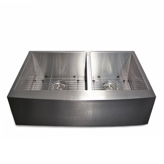 Highpoint Collection 3321 Stainless Steel 2-bowl Apron