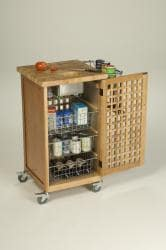 Chris & Chris 20x20-inch Natural Finish Pantry Chef Kitchen Work Station