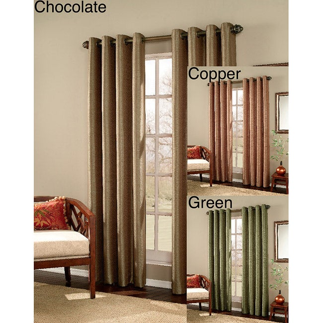 Meridian Grommet 84-Inch Curtain Panel Pair at Sears.com