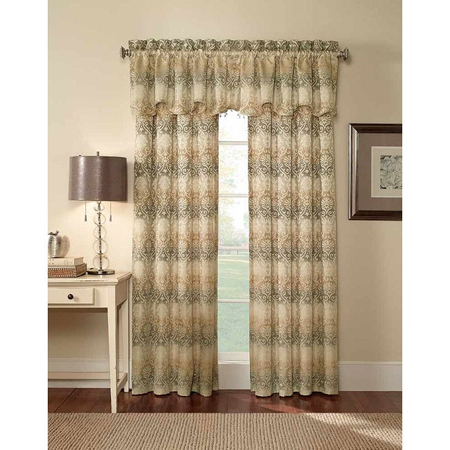 Elise Damask Jacquard 63-Inch Curtain Panel Pair