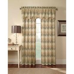 Elise Damask Jacquard 84-Inch Curtain Panel Pair