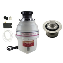 WasteMaster 3/4-HP Food Waste Disposer Garbage Disposal with Stainless Air Switch Kit