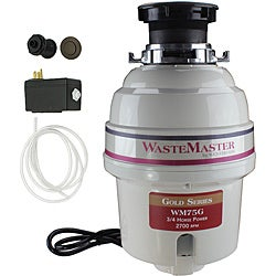 WasteMaster 3/4-HP Food Waste Disposer Garbage Disposal with Bronze Air Switch Kit