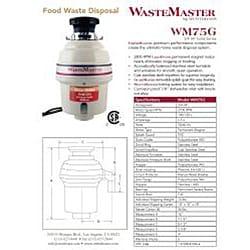 WasteMaster 3/4-HP Garbage Disposal with Black Air Switch Kit