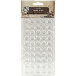 Bottle Cap Vintage Collection Epoxy Dots .5in (Pack of 100)