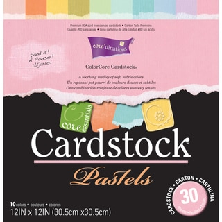 Core Essentials 'Pastels' Cardstock 12X12