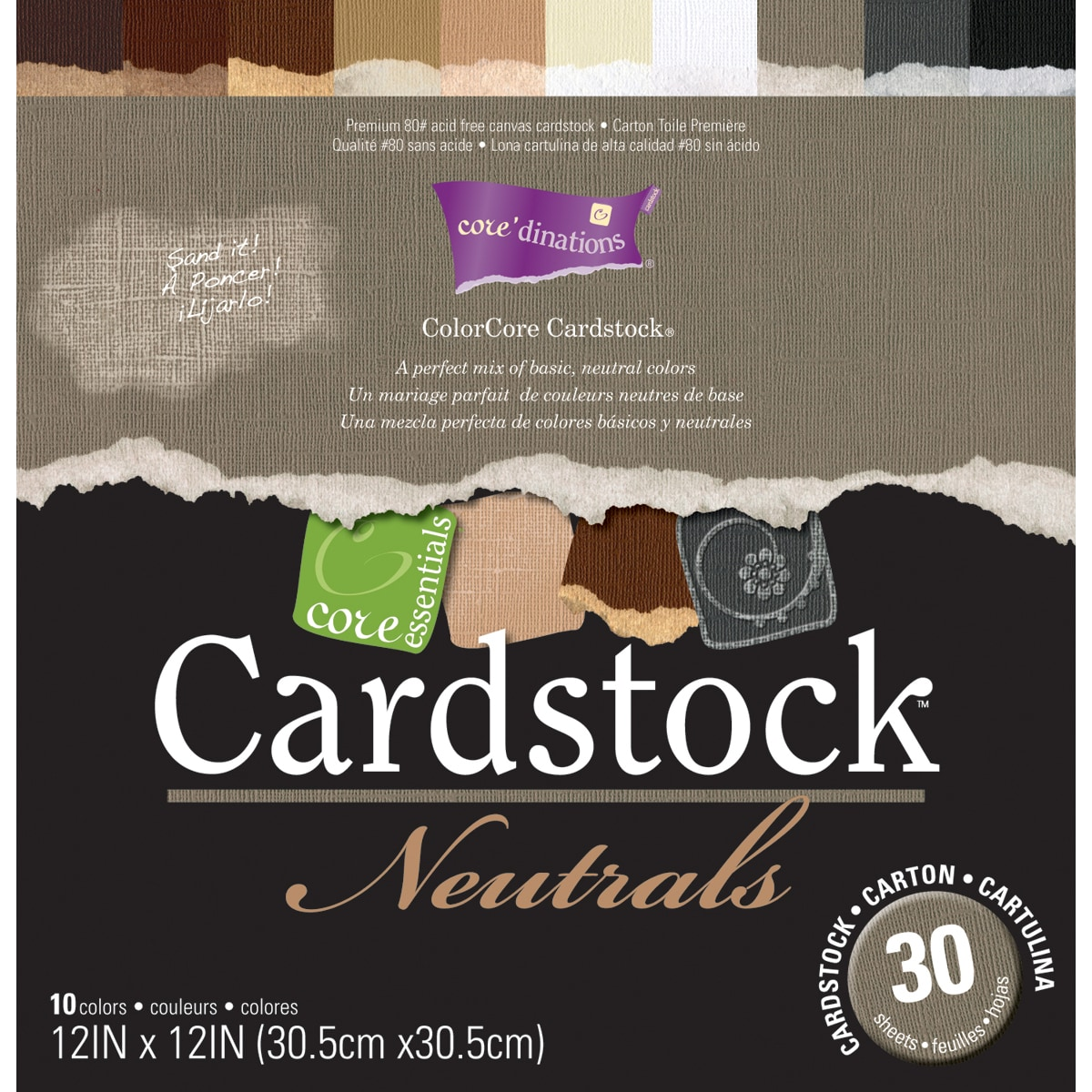 Core Essentials 'Neutrals' Cardstock 12x12