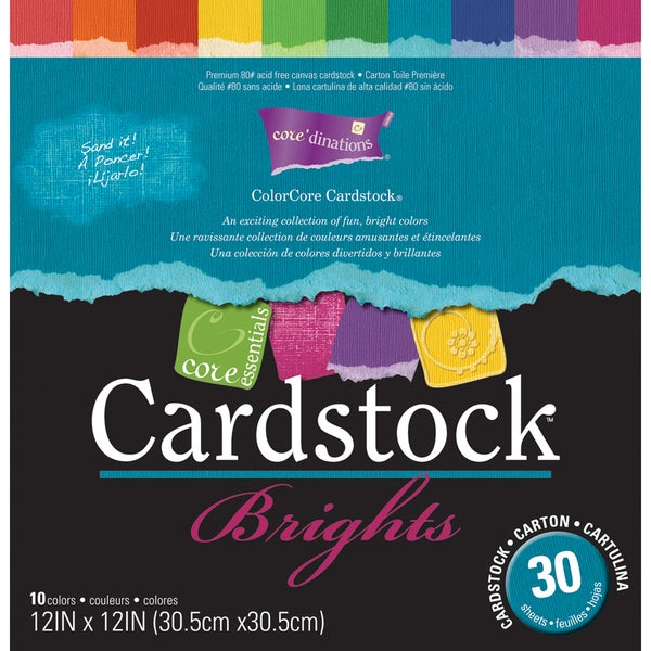 Darice Core Essentials 'Brights' Cardstock 12X12in