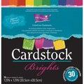 Darice Core Essentials 'Brights' Cardstock 12X12in