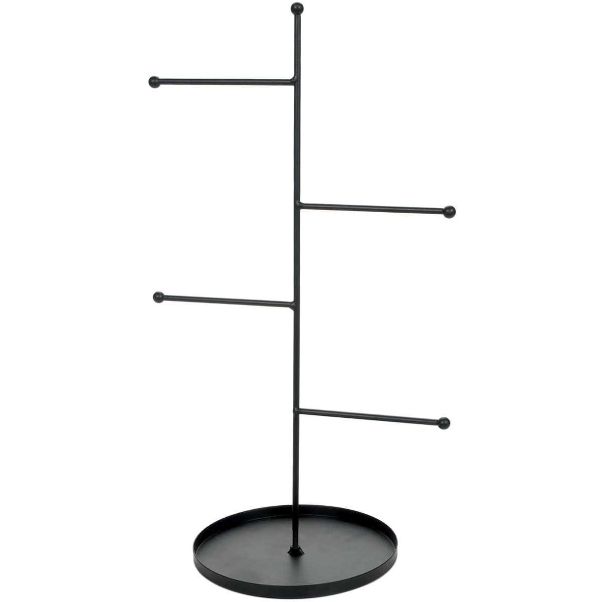 Darice Metal Rungs Jewelry Stand-Black