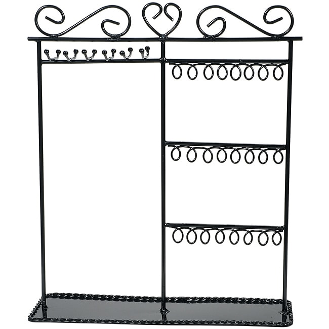Metal Jewelry Display Shelf black (Black Materials Metal Overall dimensions are 12x3 1/2x14 inches. The entire piece is black painted metal. This package contains one jewelry display stand. Imported. )
