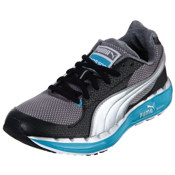 Puma Women's Black/ Blue Lace-up Sneakers