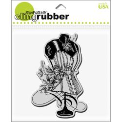 Stampendous Cling Rubber Stamp-Rose Corset