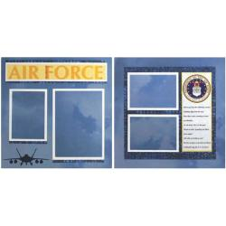 U.S. Air Force Page Layout 12X12in