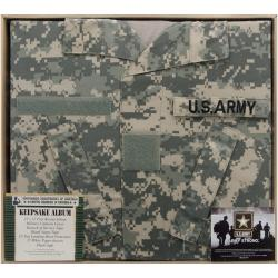 U.S. Army Keepsake Post Bound Album 12X12in-ACU Camo