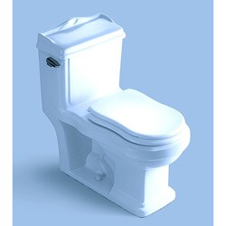 'SYRACUSE' Contemporary European Toilet with Single Flush and Soft Closing Seat Closing Seat