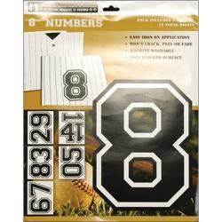 Iron On Numbers 8in-Black