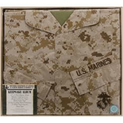 U.S. Marine Keepsake Post Bound Album 12X12in-Desert Camo