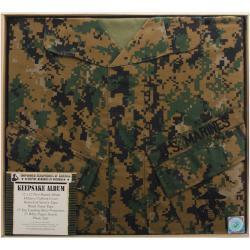 "U.S. Marine Keepsake Post Bound Album 12""X12""-Woodland Camo"