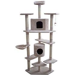 78 inch Ivory Cat Condo Furniture Tree