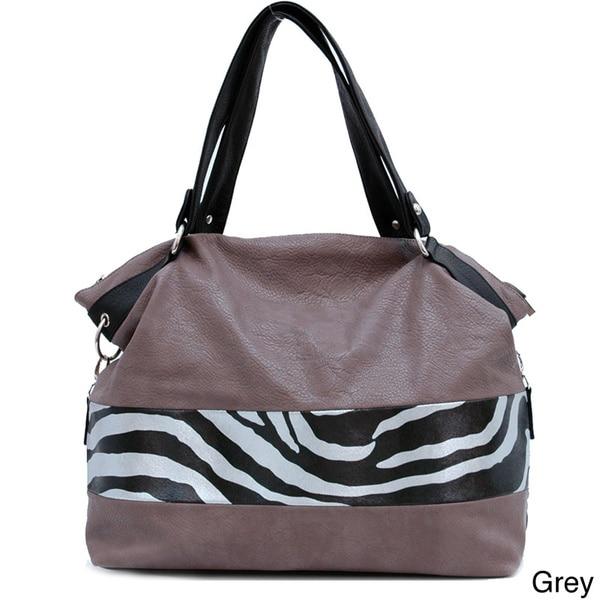 Dasein Zebra Panel Tote Bag