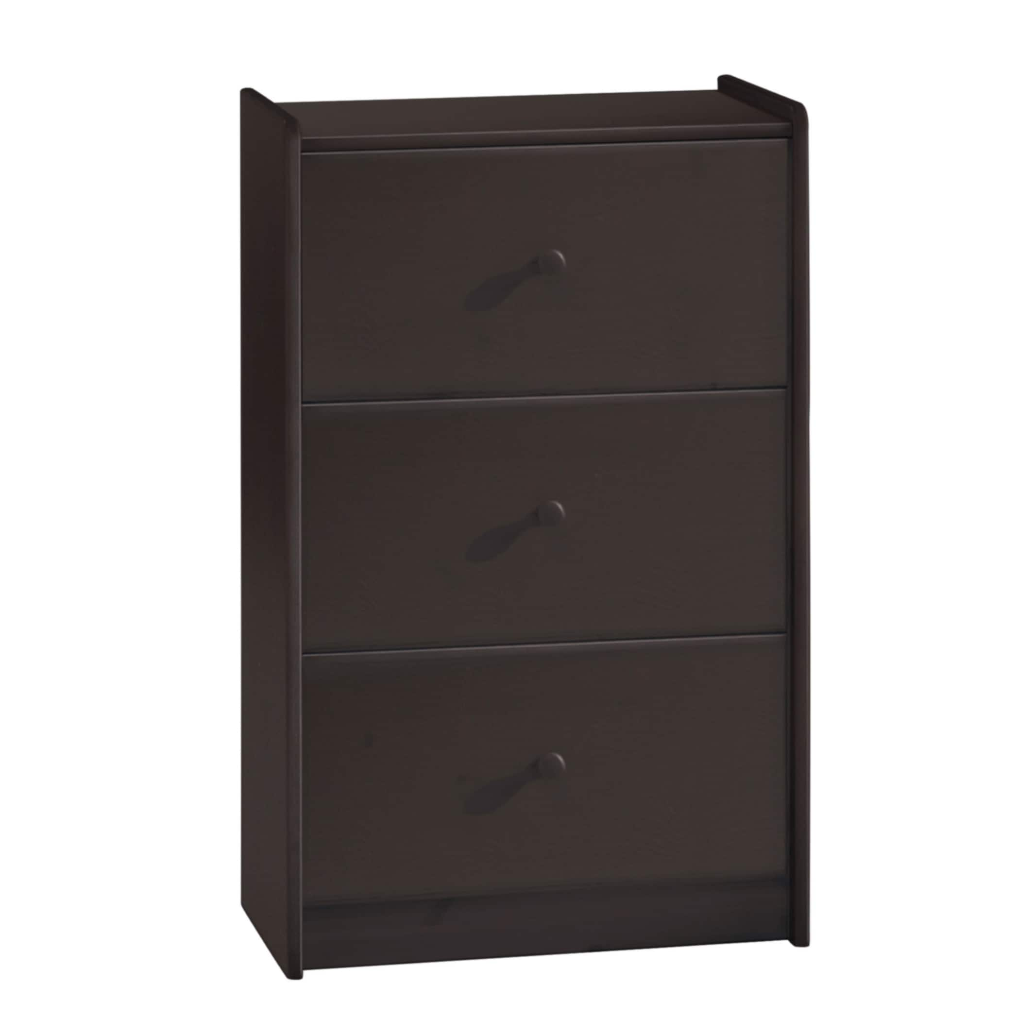 Popsicle Espresso 3-drawer Dresser
